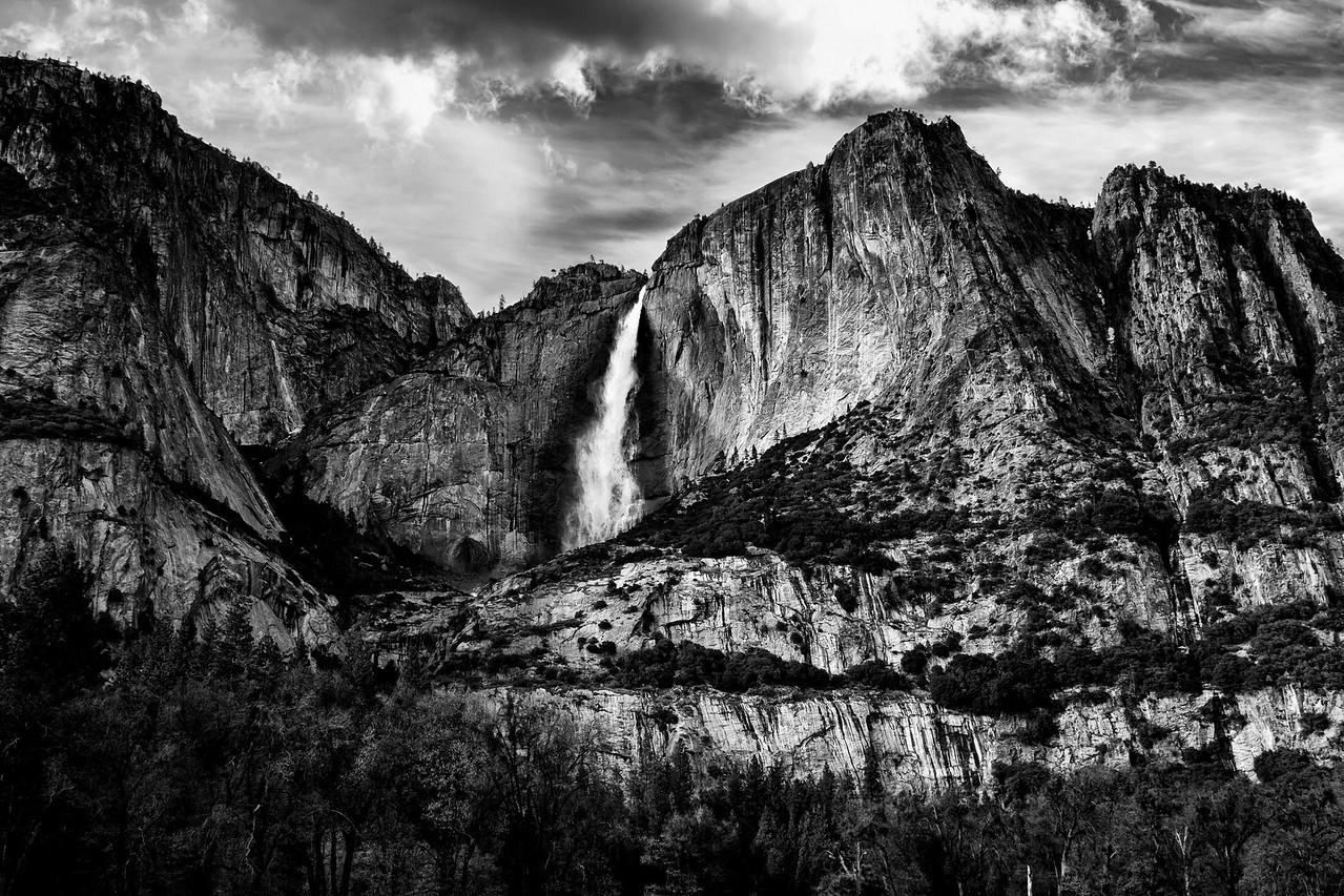 The Upper Falls in Monochrome