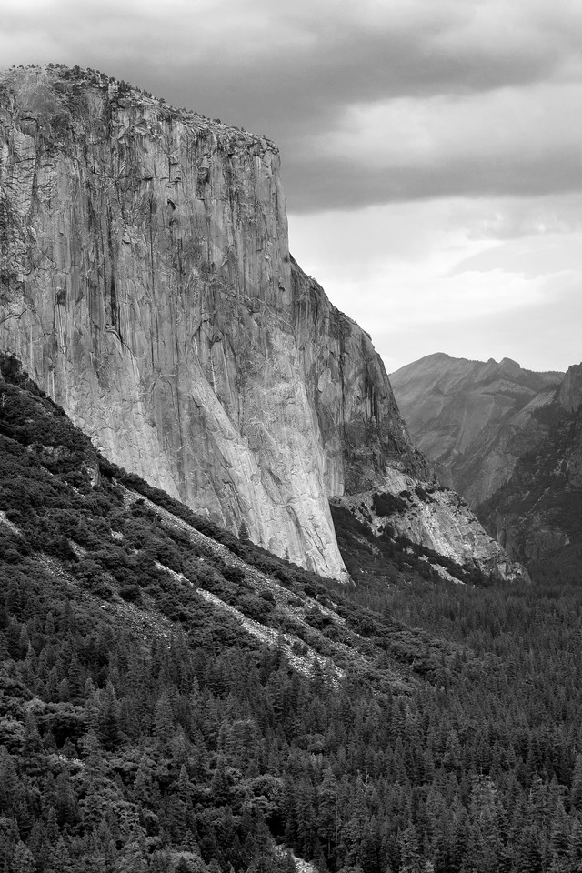 El Capitan Storm in B/W
