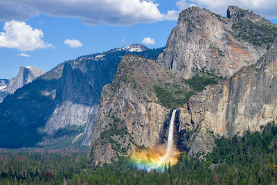 Bridal Veil rainbow from Tunnel View