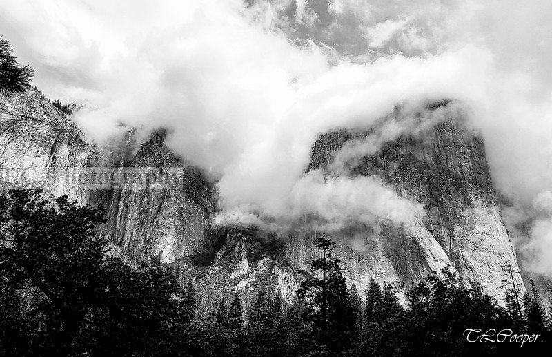 Half Dome with a building storm