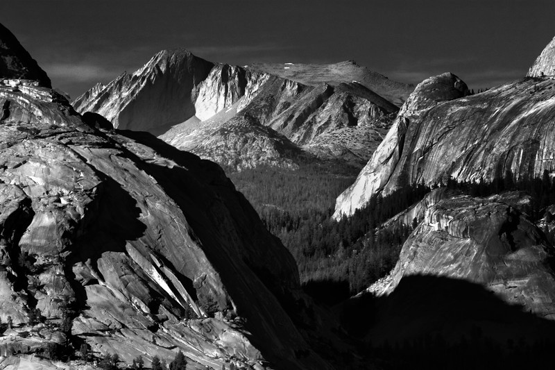 Mount Conness in B/W