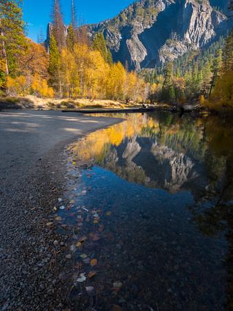 Fall Reflections, Merced River, Yosemite