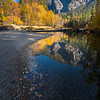 Fall Reflections, Merced River, Yosemite