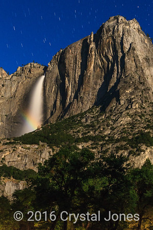 Moonbow, upper Yosemite Falls