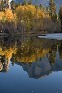 Reflected Half Dome with Fall Colors