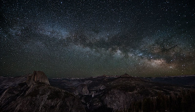 Summer Visitors from across the Galaxy - Glacier Point view Yosemite National park