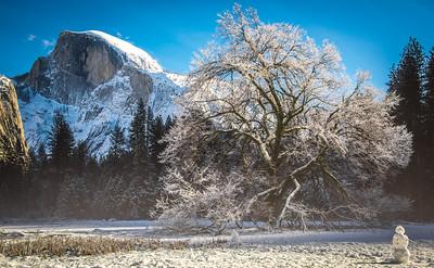 Yosemite Winter Fresh Snow! Half Dome, Yosemite Falls, Cook's Meadow! California 45Epic Dr. Elliot McGucken Fine Landscape and Nature Photography
