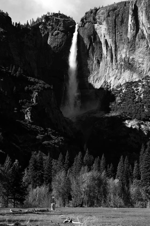 Yosemite Falls in B/W