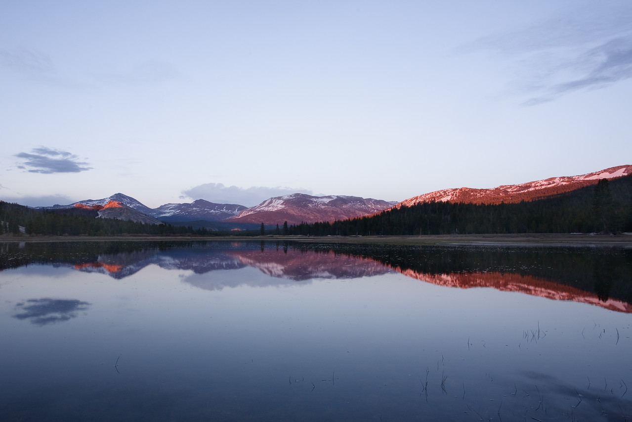 The Red Glow at Tuolumne Meadows