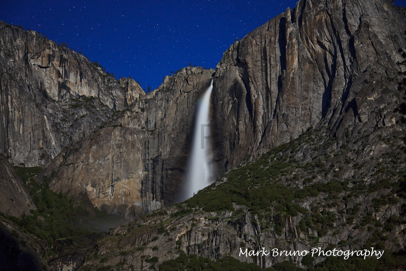 Yosemite Falls by Moonlight 2