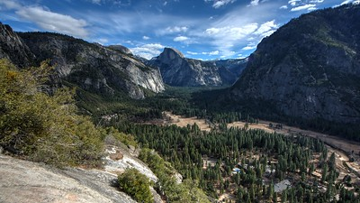 Yosemite Valley and Half Dome as seen from the Trail to Upper Yosemite Falls