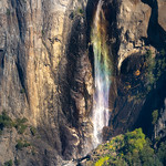 Colors of the Rainbow on Bridal Veil Falls, Yosemite