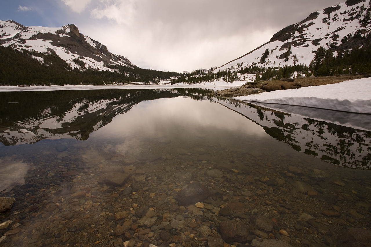 Tioga Pass and Tioga Lake