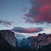 Pink Clouds above Yosemite Valley