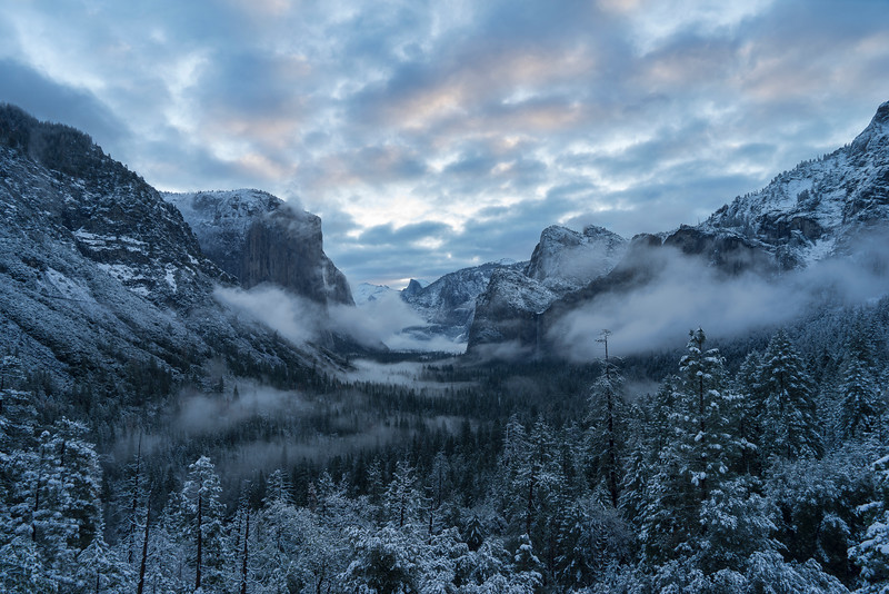 Sunrise from Tunnel View