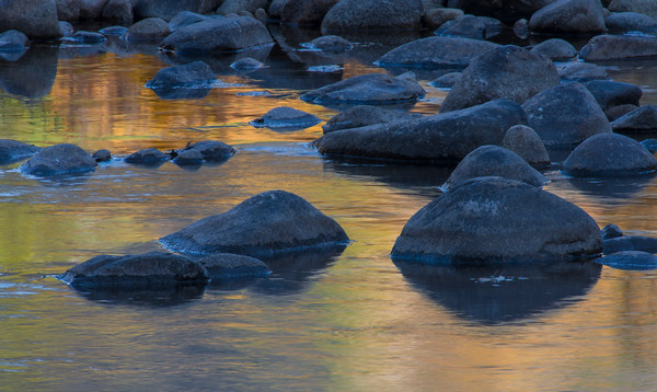 Sunset on the Waters of the Merced River, Yosemite