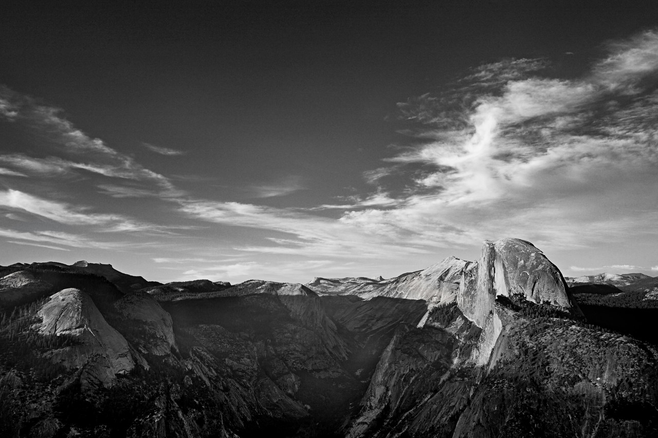 Parting Clouds Over Glacier Point