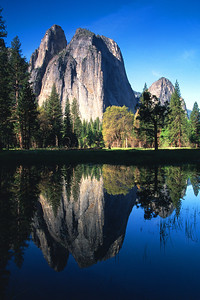Spring Reflection, Cathedral Rocks Yosemite National Park California