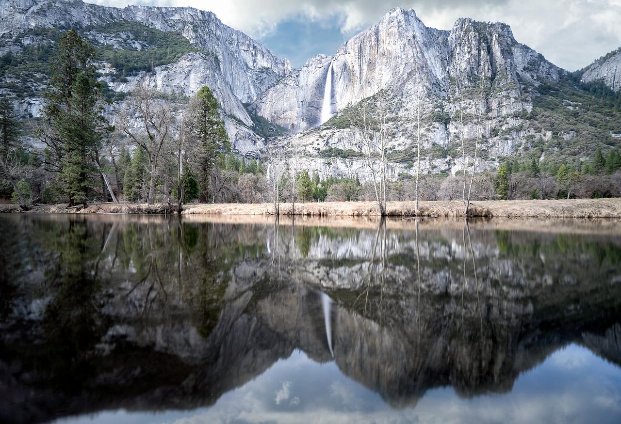 Duo of Yosemite Falls in Color