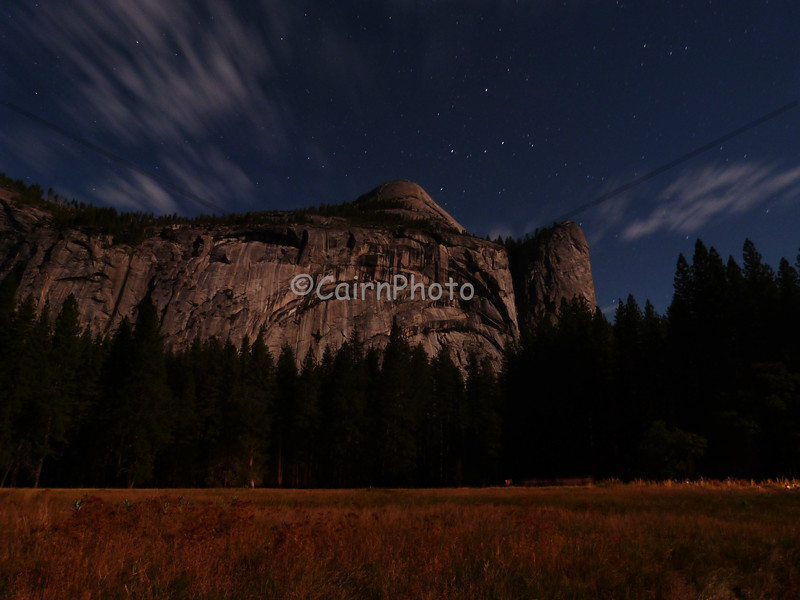 This picture was an experiment!  This is North Dome by moon light only.