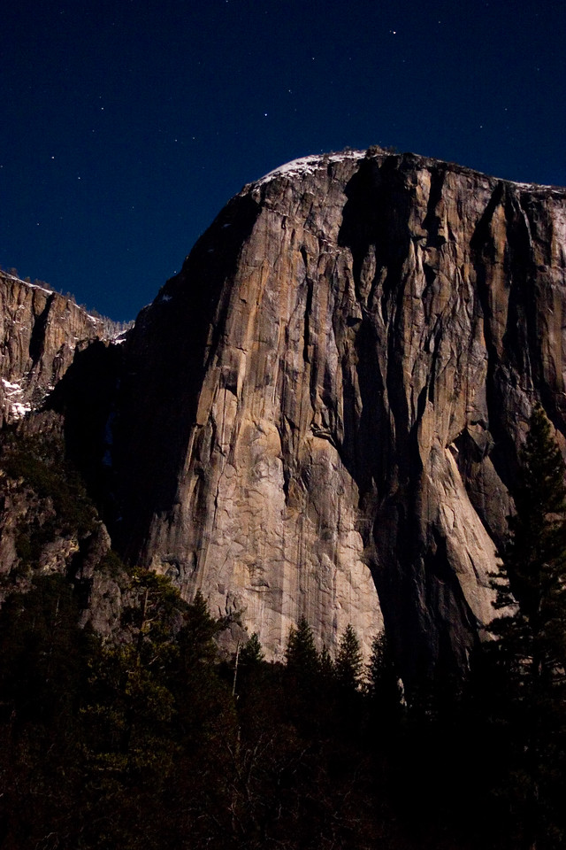 El Capitan In Moonlight