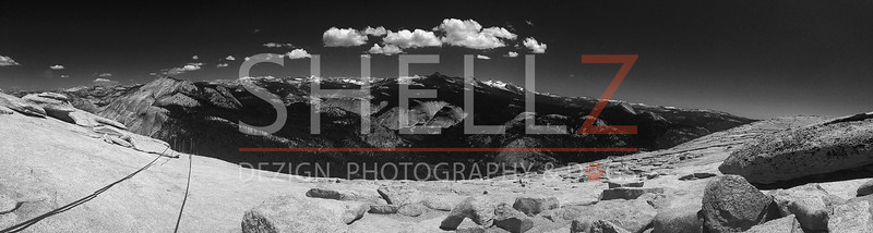 Half Dome Summit - BW