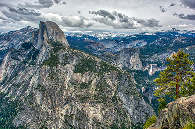 Half Dome and Nevada Falls