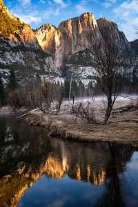 Richards___Early morning with Yosemite Falls in the background