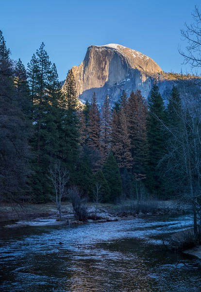 Half Dome in evening light.