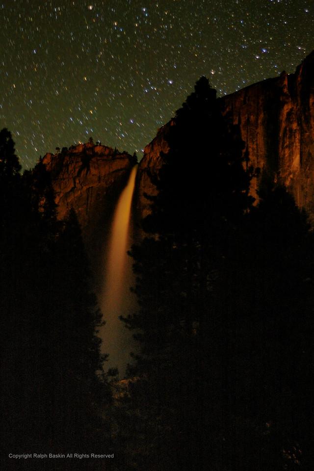 Yosemite Falls by Night