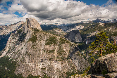 "Iconic ""Half Dome"" at Yosemite National Park, California"