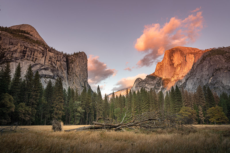 Sunset with Half Dome