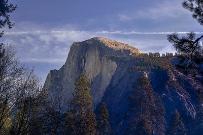 Half Dome Viewed from Curry Village 12-30-13