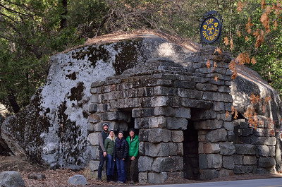 Stone Entrance to the Ahwahnee 12-30-13