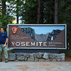 At the entrance to Yosemite.