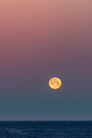 Moonset. Garrapata State Park, CA