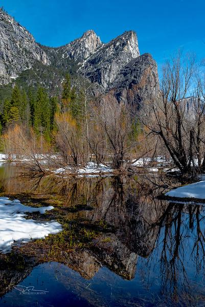 Three Brothers. Yosemite, CA