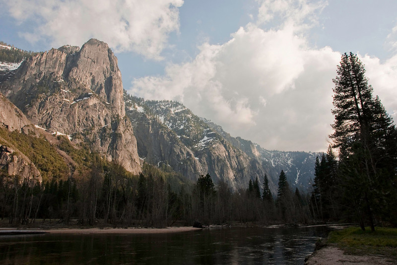 Sentinel Rock and Merced River