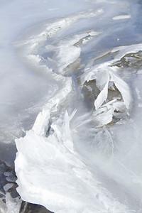 Ice Formations on Tenaya Lake Yosemite National Park, California January 5, 2012 J5(7)