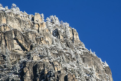 My husband loves the look of the rough rocks with snow on them.  I might have to frame this one for him.  Winter photos of Yosemite are his favorite, so he has some of mine hanging over his desk. February 24, 2007 F24(1)