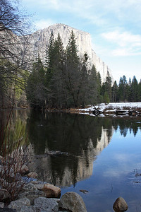 El Capitan Reflected in the Merced River Yosemite National Park, California January 16, 2010 J16(12)