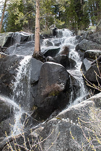 May 25, 2015 M-25(23) This was one of several waterfalls we saw along Tioga Road.  It was a beautiful day.  We keep hoping for more rain so we can enjoy seeing more water in the waterfalls here and in Yosemite Valley.