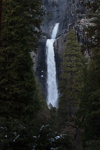 Middle Cascades and Lower Yosemite Fall