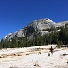 Mary walking to the crag, Tuolumne Meadows, Yosemite National Park