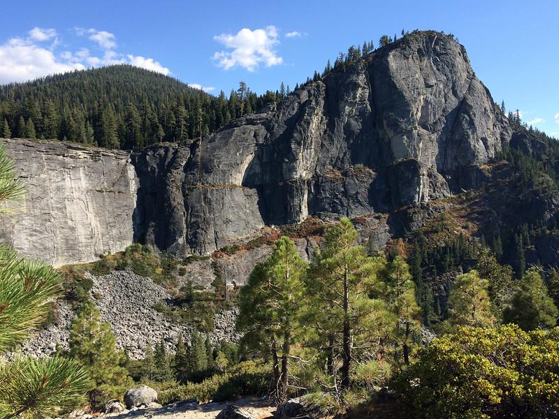Lover's Leap crag near Lake Tahoe, in California