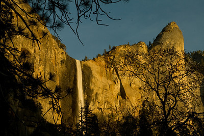 Bridal Veil Falls in the late afternoon.
