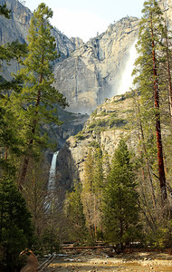 Yosemite Falls from where John Muir's cabin was.