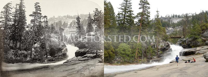 Yosemite National Park, Silver Apron above Vernal Fall.