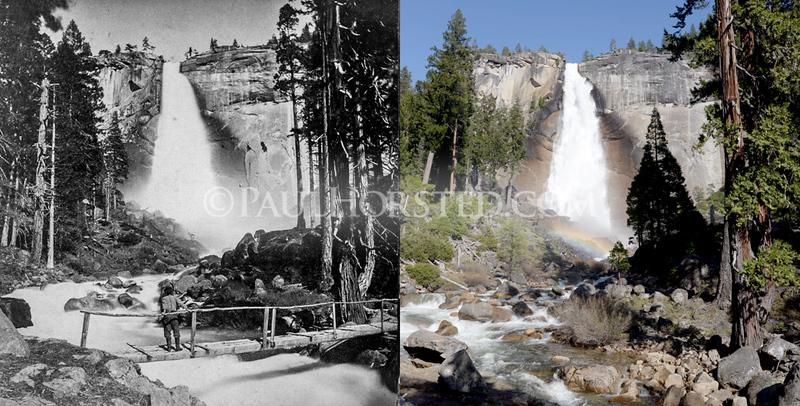 Yosemite National Park, below Nevada Fall.