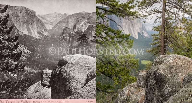 Yosemite National Park,, from old Pohono Trail.